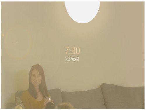 LED灯可同步各时区光线变化