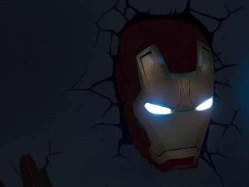 LED钢铁侠面具夜灯 创意照明