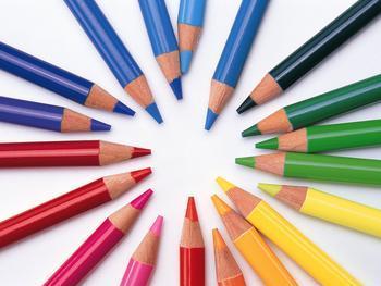 文具产品陈列技巧一:颜色搭配