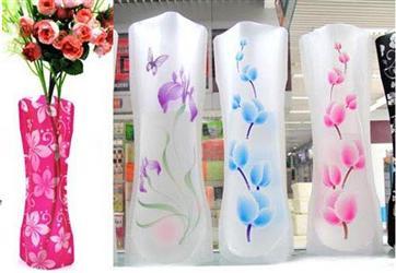办公室流行折叠式塑料花瓶