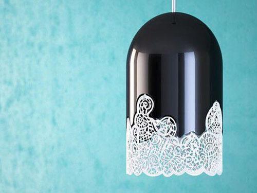 巴黎设计师发明蕾丝灯具