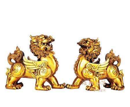 铜貔貅工艺品 (招财摆件)