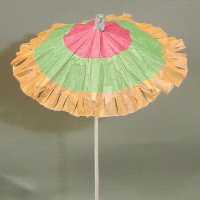 儿童纸伞简笔画