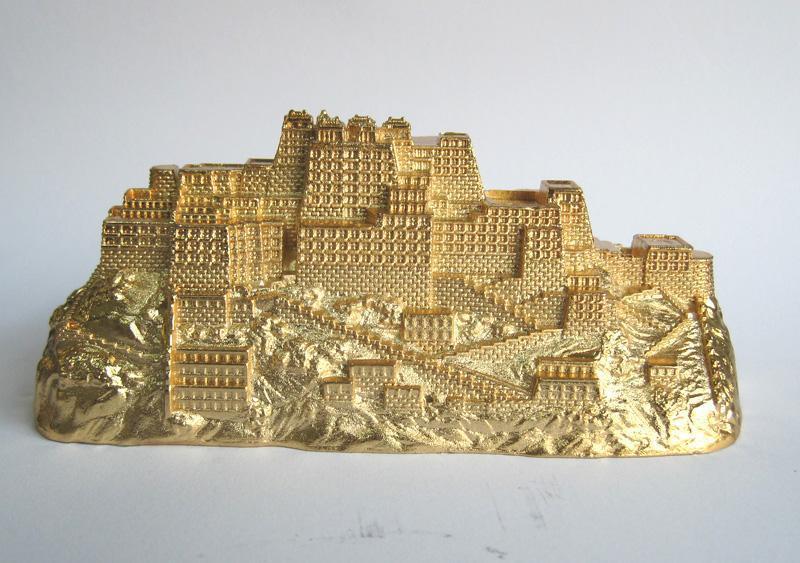 金属布达拉宫模型