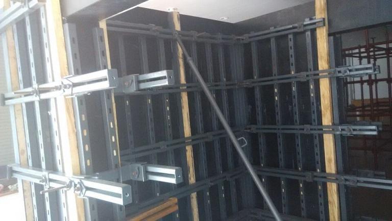新型剪力墙模板支撑体系