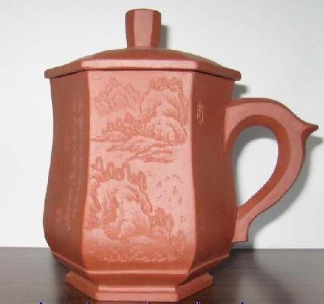 民间秘方泡茶��`'�h�f,_高档六方紫砂杯