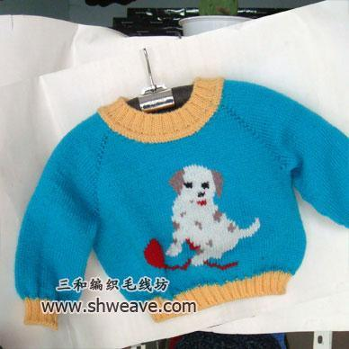 儿童手工毛衣