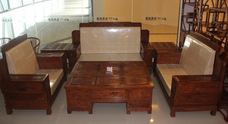 刺猬紫檀沙发 中国