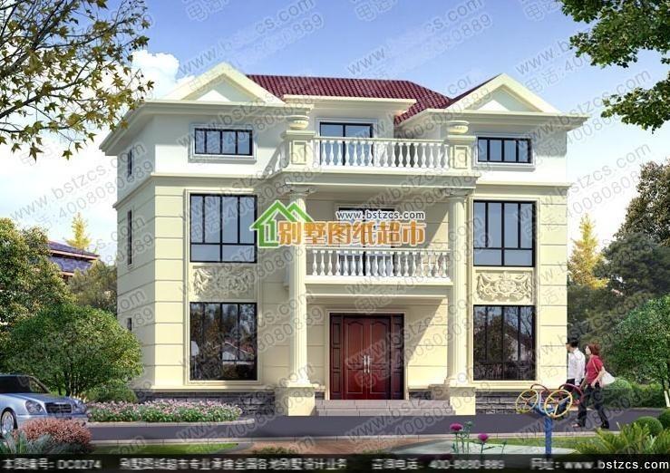 13米×10米二层半农村自建房设计图