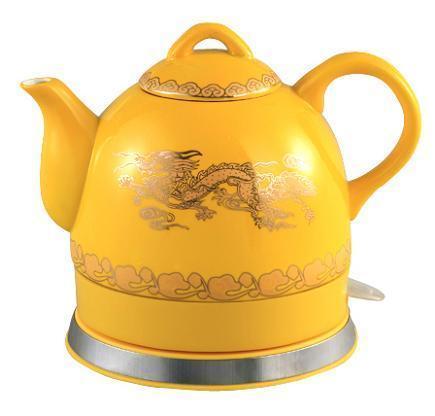 皇帝黄陶瓷电热壶