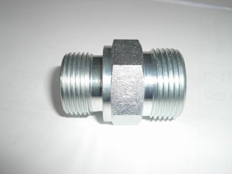 液压/液压管件,英制外螺纹60度锥面胶垫密封直管接头...
