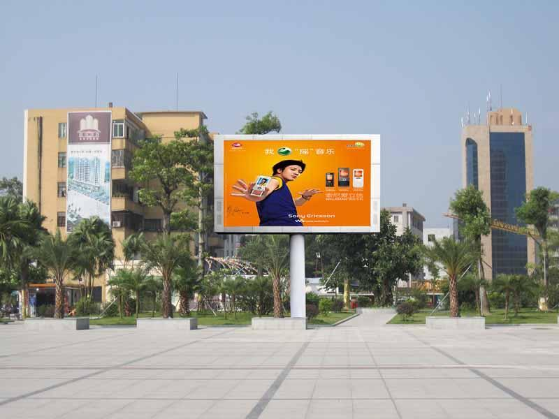 钢架立柱户外广告led显示屏图片