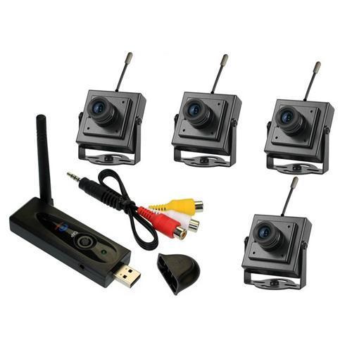 4路无线监控摄像头