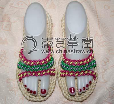 中国结编拖鞋图解