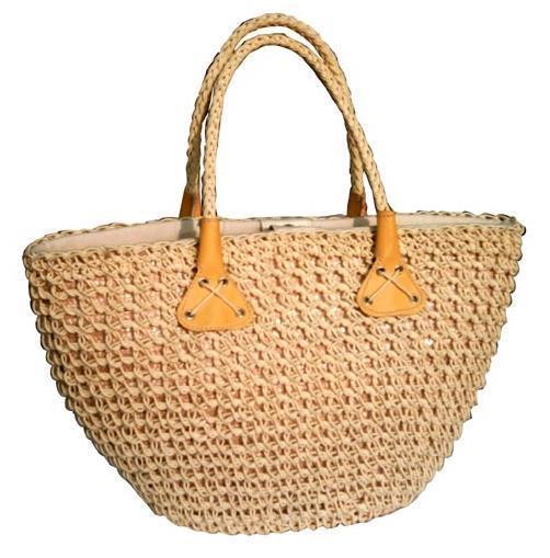 女士手提包,草编手提包