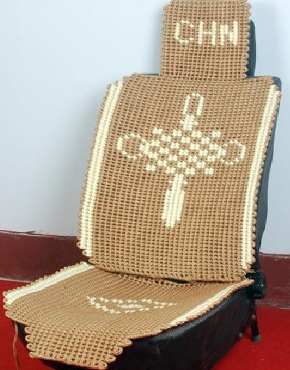 亚麻手工编织汽车坐垫
