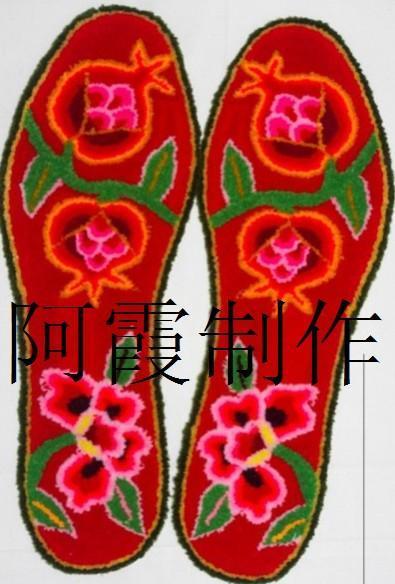 纯棉手工制作割绒鞋垫