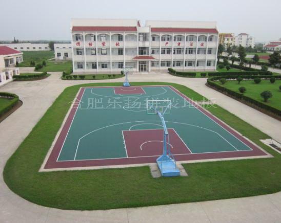 学校室外篮球场拼装地板