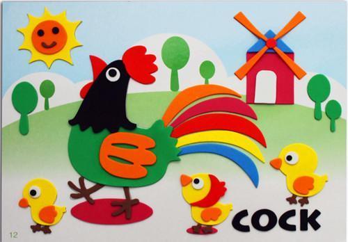 供应黑妞宝贝动物贴画 装饰贴画 幼儿园创意贴画图片
