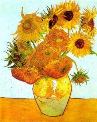 油画 凡高 向日葵