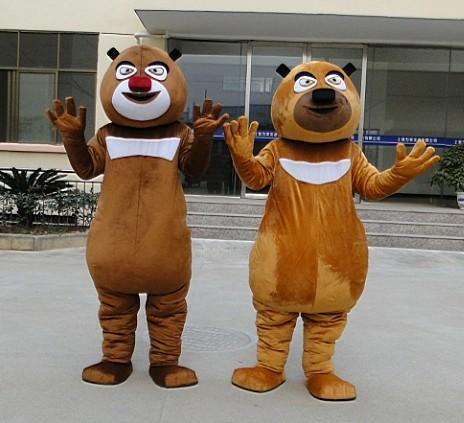 女人裸阴道真实囹�a_熊出没 熊大熊二人偶 卡通人偶服装