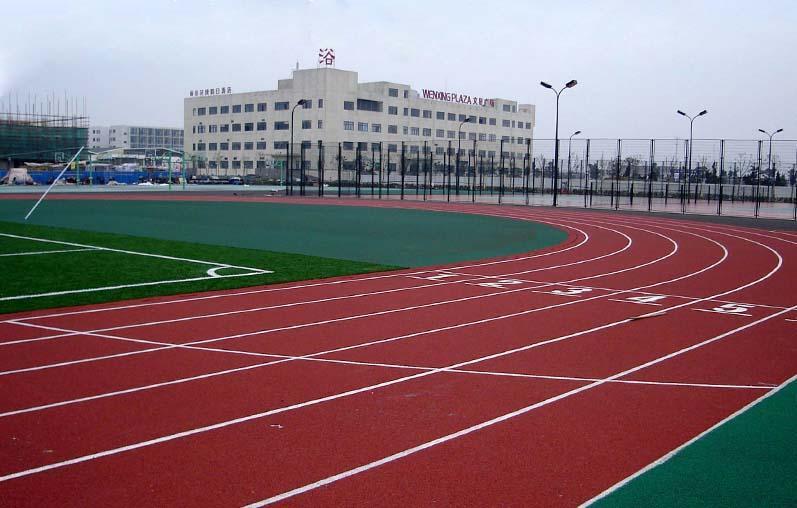 学校操场塑胶跑道 塑胶跑道施工 校园塑胶跑道