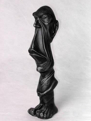 黑人�_西藏黑乌石雕刻 - 02