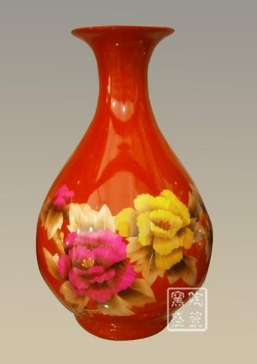 陶瓷麦杆画花瓶