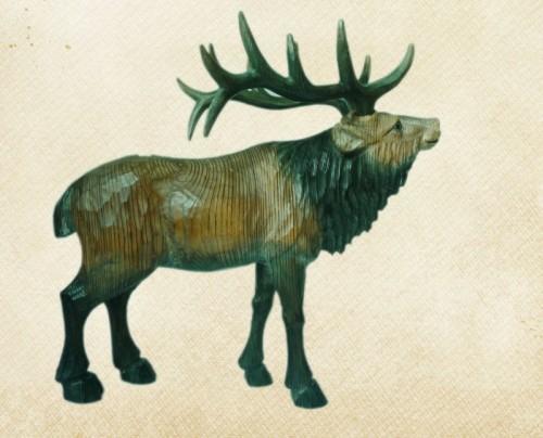 木雕工艺品动物鹿