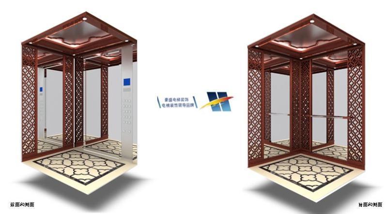 现代中式的酒店电梯装饰图片