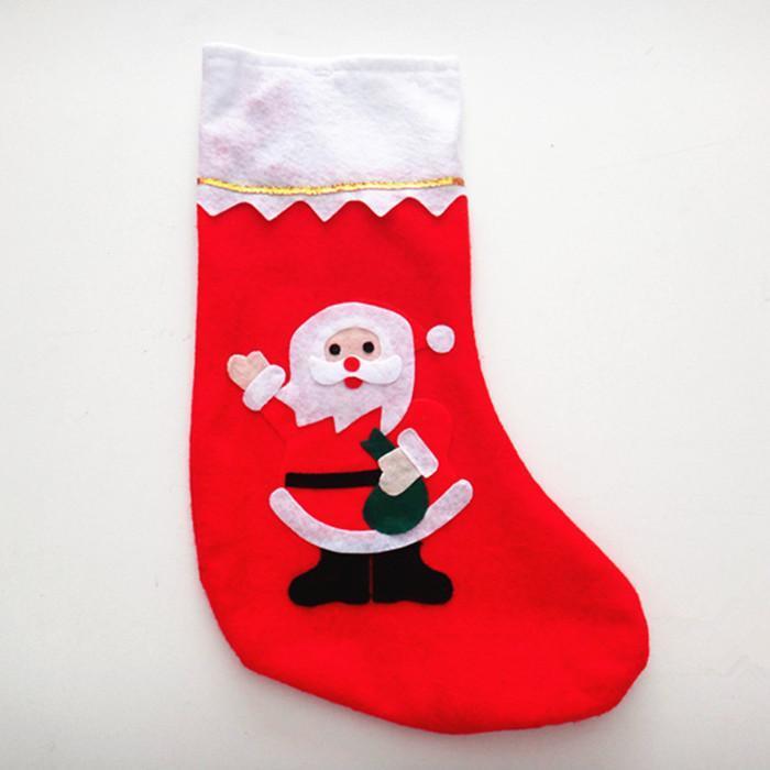 【组合】白色靴口 红底无纺布 可爱老人贴花=圣诞