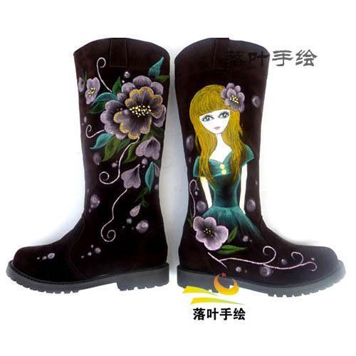 03 手绘筒靴