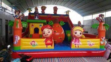 儿童充气滑梯,游乐设备,儿童乐园,河南郑州新兴游乐图片,儿