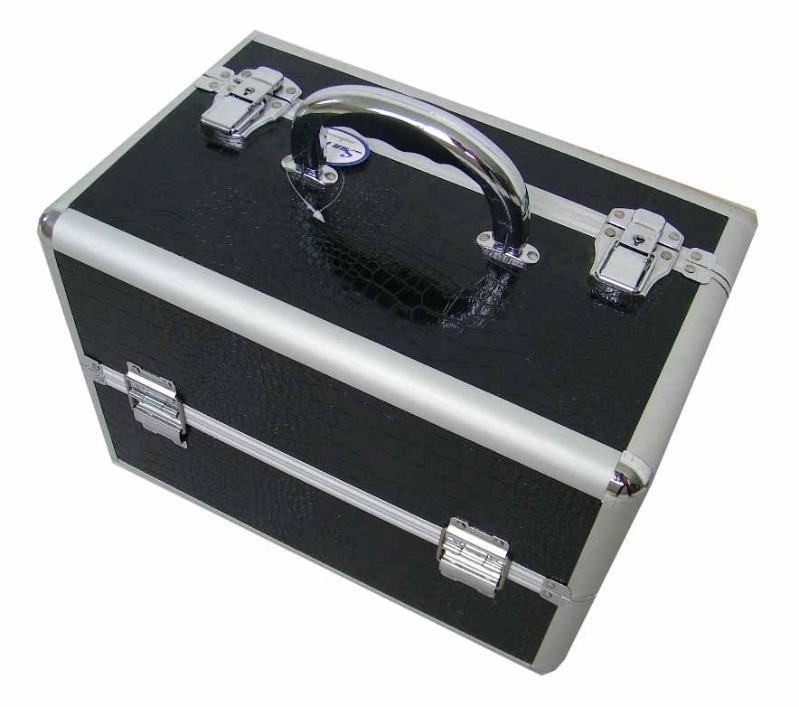 黑色铝化妆箱
