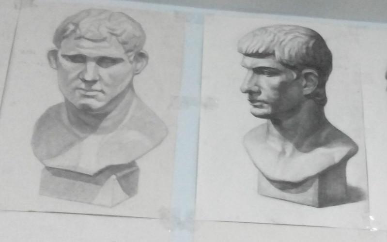大禹美术基础班素描(几何形体景物石膏头像