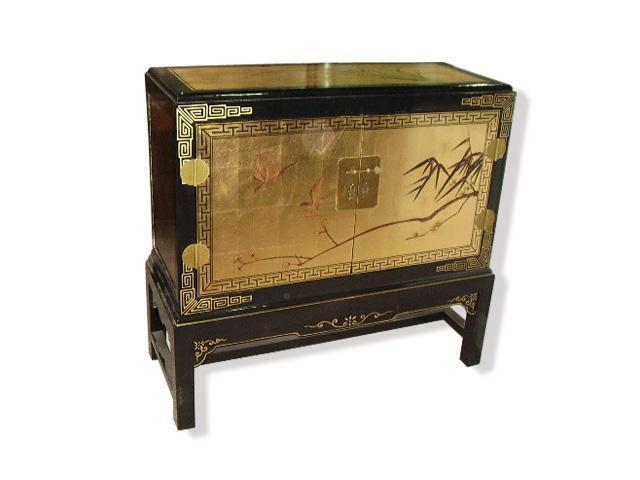 金箔手绘描花柜