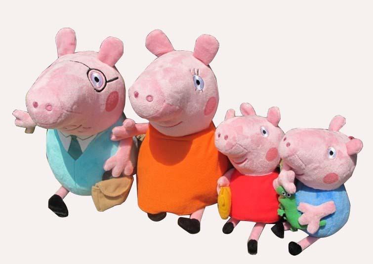 """咔通玩具专业承接毛绒玩具 布艺产品,卡通公子 欢迎新老客户来图或样订制。 材质】:安全pp棉,对宝宝健康无害,产品外单,部分布标被剪。 【适龄】:2岁以上 【商品描述】:粉红猪小妹自2004年在英国的FIVE 和NICK JR.电视台首播后,全球超过120个国家的电视频道也相继播映,包括,台湾""""迪士尼频道"""",美国 CARTOON NETWORK,以及澳洲,纽西兰,挪威,瑞典,北欧其余各国,韩国…等等。并荣获2005年法国Annecy 国际动画展Cristal奖&ldq"""