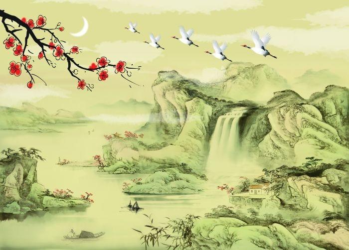 高仿古典人物风景建筑油画 (9908)