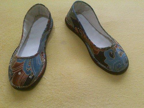 女式圆口手工布鞋
