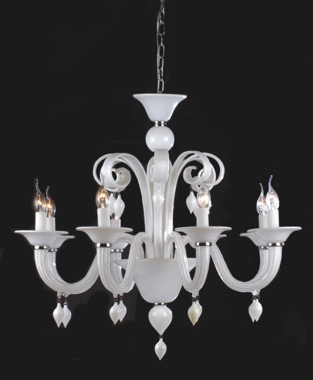 产品目录 照明 灯饰 枝形吊灯 03 欧式风格蜡烛灯(6007-8 白)图片