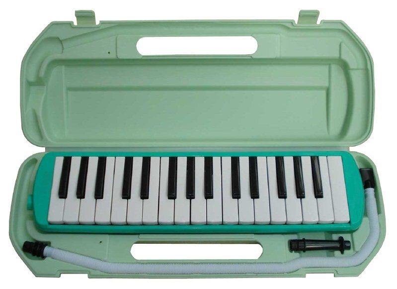 32键绿色塑盒包装口风琴(qm32a)