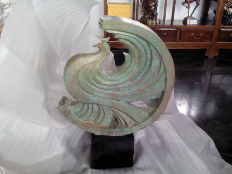 凤凰于飞铜雕塑工艺品