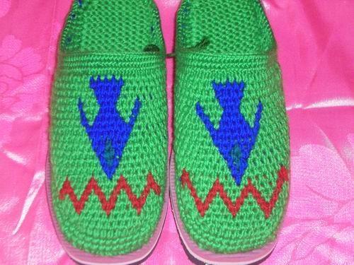 毛线拖鞋(09010)