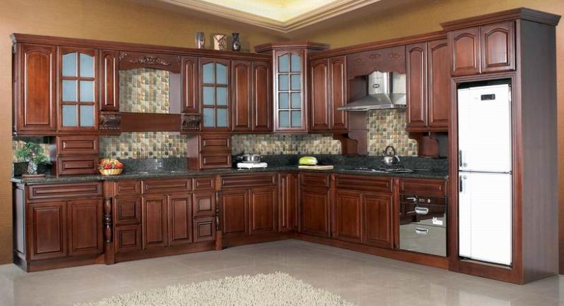 产品目录 建筑和装饰材料 厨房家具 03 实木厨柜图片