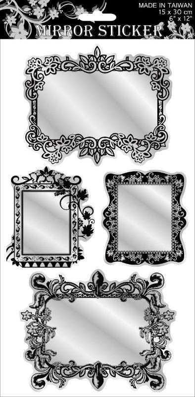镜面贴纸图片