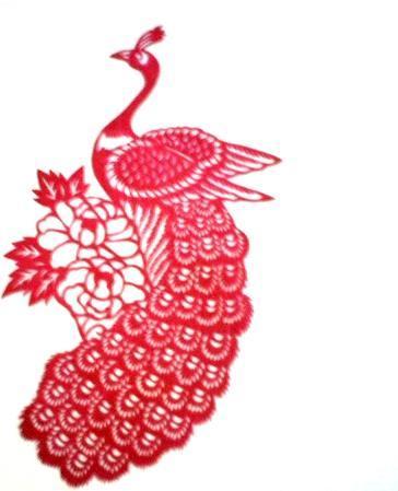 孔雀窗花步骤图片
