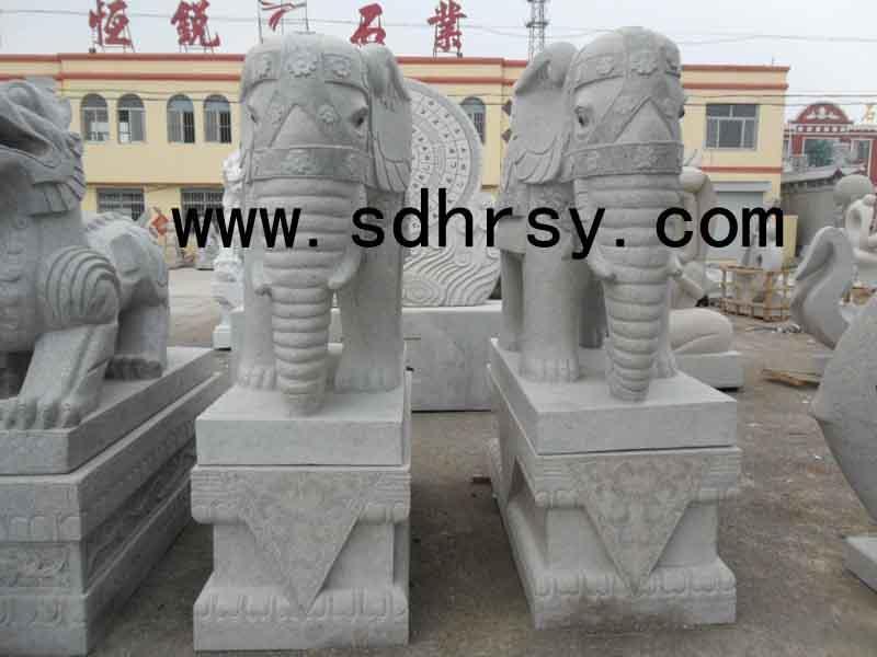 动物石雕大象石象