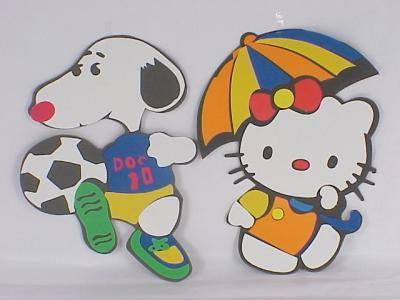 非常可爱的二款eva卡通动物拼图史努比kt猫