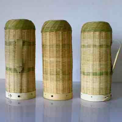 竹编热水瓶壳图片