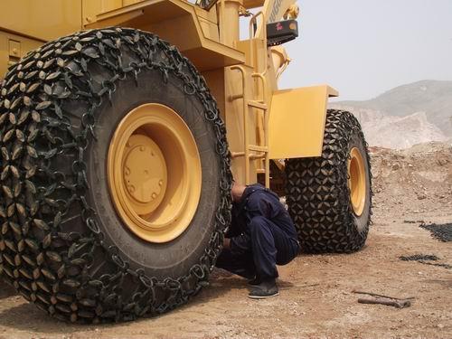 铲车轮胎保护链